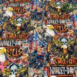 15-telas-estampadas-de-algodón,-telas-frikis,estampados-frikis-de-algodón,-estampados-origonales-de-algodón,Tejido Estampado Harley Davidson