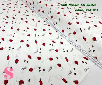 15-telas-por-metros,telas-de-camiseta,tejidos-de-punto-camiseta,tejidos-por-metros,telas-para-bebes,Punto Camiseta Jersey Estampado Mariquitas