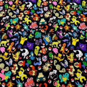 913 Tejido Estampado Pokemons