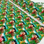 37-telas-estampadas-de-algodón,-telas-frikis,estampados-frikis-de-algodón,-estampados-origonales-de-algodón,Tejido Estampado Bola de Dragón