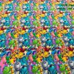 39-telas-estampadas-de-algodón,-telas-frikis,estampados-frikis-de-algodón,-estampados-origonales-de-algodón,Tejido Estampado Monstruos S.A