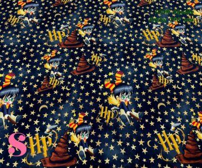4-telas-estampadas-de-algodón,-telas-frikis,estampados-frikis-de-algodón,-estampados-origonales-de-algodón,Tejido Estampado Baby Potter