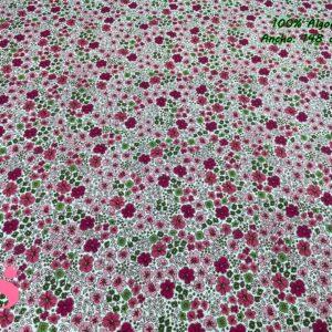 920 Tejido Estampado Flores London Tonos Granate y Verde