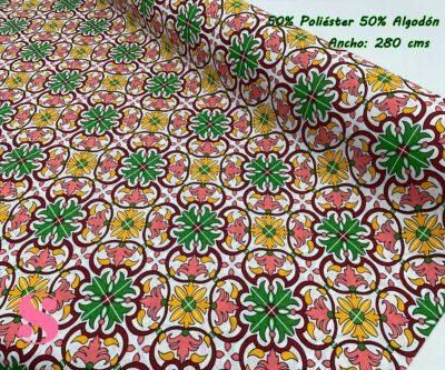 9-telas-por-metros,telas-de-exterior,tejidos-de-exterior,tejidos-por-metros,telas-para-jardín,Loneta Estampada Azulejo Portugués Sintra