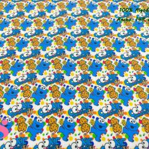 968 Tejido Estampado Cookie Monster