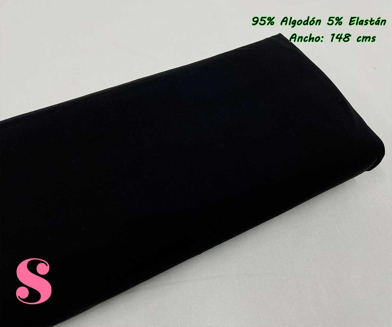 11-telas-de-punto,telas-para-confeccionar-ropa-de-niño,telas-que-no-se-arrugan,tela-sin-plancha,Punto Camiseta Jersey Negro