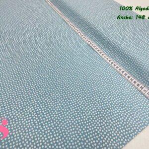 946 Tejido Estampado Orejitas Mouse Azul