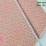 17-telas-de-algodón,telas-para-confeccionar-ropa-de-niño,telas-de-bebe,telas-infantiles,Tejido Estampado Retro Círculos Naranja