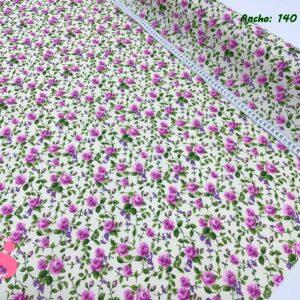 M26 Mantel Rosas Malva Resinado Antimanchas