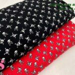 8-telas-de-punto,telas-para-confeccionar-ropa-de-niño,telas-que-no-se-arrugan,tela-sin-plancha,Punto Camiseta Jersey Estampado Calaveras Rojo,Punto Camiseta Jersey Estampado Calaveras Negro