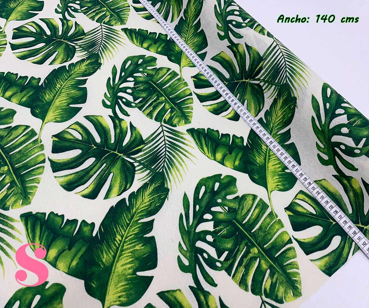 20-tela-de-hule,mantel-impermeable,mantel-para-exterior,telas-impermeables,Mantel Palmas Resinado Antimanchas