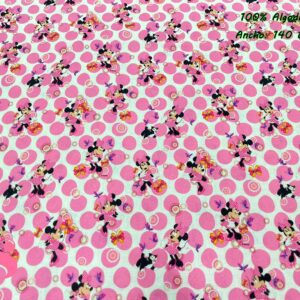 949 Tejido Estampado Patch Americano Minnie Círculos