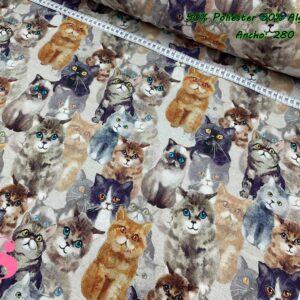 953 Loneta Estampada Gatos