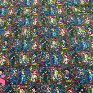964 Tejido Estampado Vidriera Princesas Disney