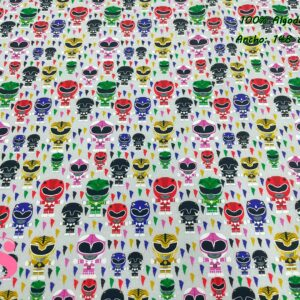 966 Tejido Estampado Mini Power Rangers