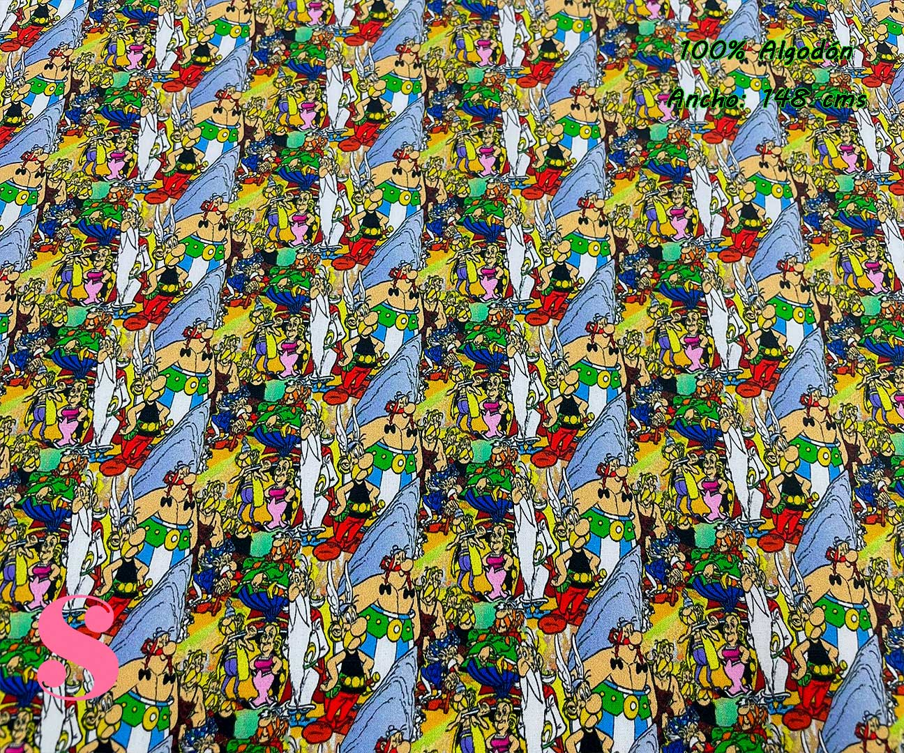 5-telas-disney,telas-infantiles,telas-frikis,estampados-disney,estampados-disney,tela-asterix-y-obelix,Tejido Estampado Asterix y Obelix