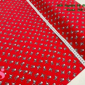940 Punto Camiseta Jersey Estampado Calaveras Rojo
