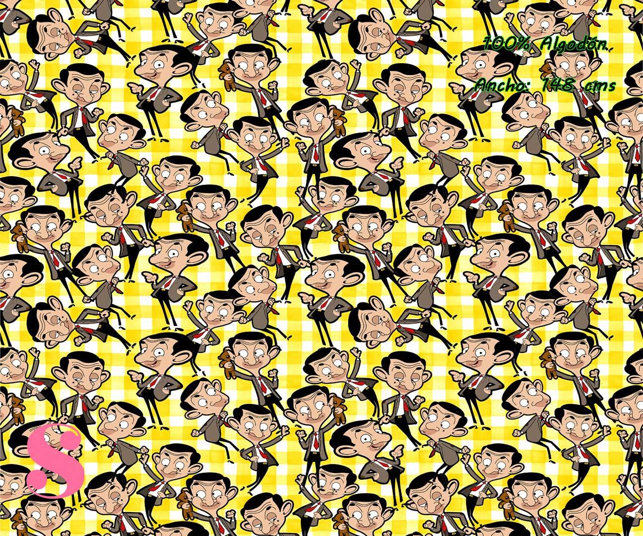 1-telas-frikis,estampados-frikis,tela-de-algodón-estampada-de-moda,estampados-originales,telas-estampadas-infantiles,Tejido Estampado Mr. Bean