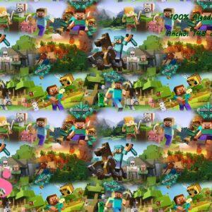 0011 Tejido Estampado Minecraft Action