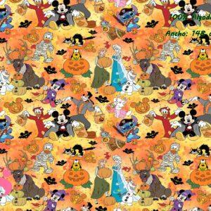 0004 Tejido Estampado Disney Halloween