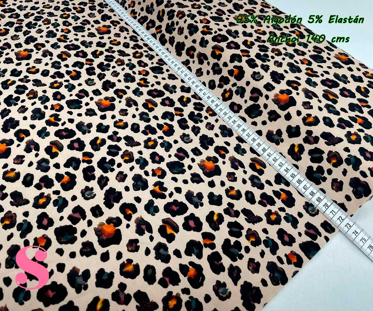 12-telas-de-punto,telas-estampadas-infantiles,tejidos-estampados-para-sudaderas,telas-para-confeccionar-ropa-infantil,Punto Camiseta Jersey Estampado Animal Print