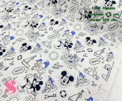 14-telas-acolchadas,estampados-acolchados-infantiles,acolchados-para-fundas,-telas-para-fundas-de-carrito-de-bebes,Acolchado Mickey & Donald