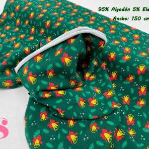 994 Punto Camiseta Jersey Estampado Campanas de Navidad