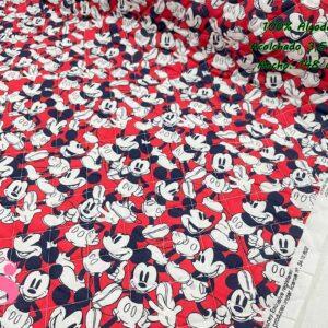 977 Acolchado Mickey fondo Rojo