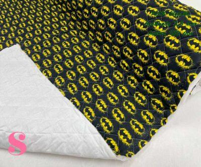 21-telas-acolchadas,estampados-acolchados-infantiles,acolchados-para-fundas,-telas-para-fundas-de-carrito-de-bebes,Acolchado Batman Símbolo