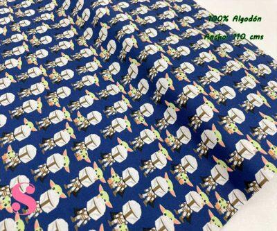 3-telas-para-patchwork,telas-estampadas-originales,tejidos-estampados-originales,telas-frikis,Tejido Estampado Patch Americano Mandalorian