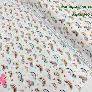 0016 Punto Camiseta Jersey Estampado Arcoíris