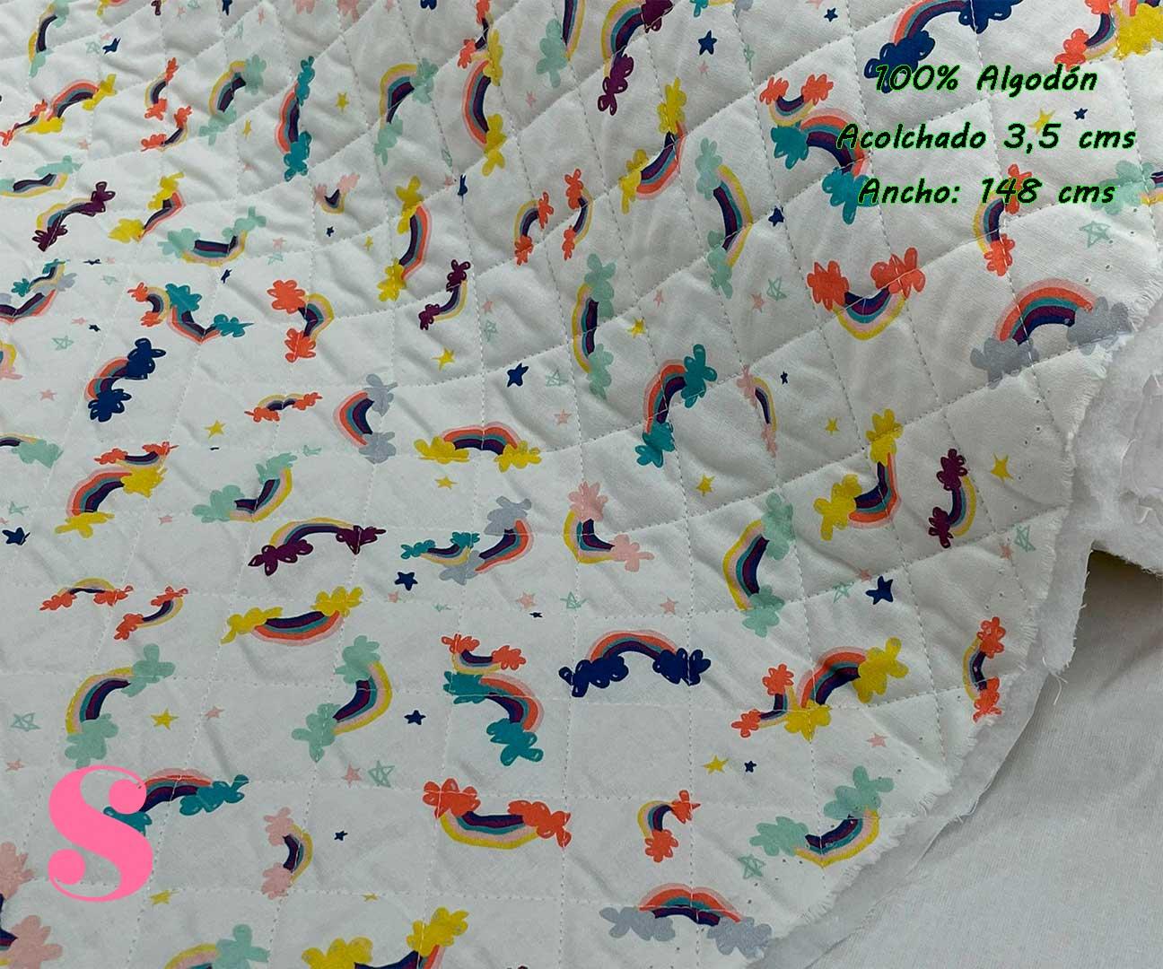31-telas-acolchadas,estampados-acolchados-infantiles,acolchados-para-fundas,-telas-para-fundas-de-carrito-de-bebes,Acolchado Arcoiris