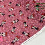 33-telas-acolchadas,estampados-acolchados-infantiles,acolchados-para-fundas,-telas-para-fundas-de-carrito-de-bebes,Acolchado Minnie Florecitas Fucsia