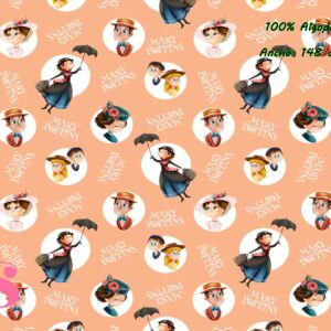 0006 Tejido Estampado Mary Poppins