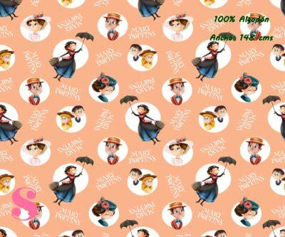 6-telas-frikis,estampados-frikis,tela-de-algodón-estampada-de-moda,estampados-originales,telas-estampadas-infantiles,Tejido Estampado Mary Poppins