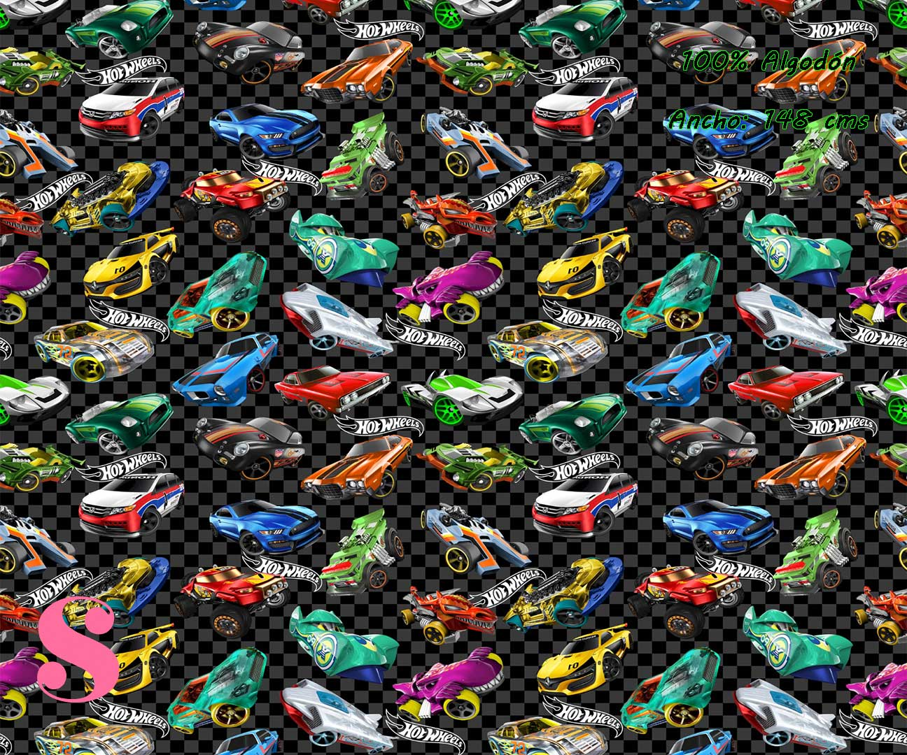 9-telas-frikis,estampados-frikis,tela-de-algodón-estampada-de-moda,estampados-originales,telas-estampadas-infantiles,Tejido Estampado Hot Wheels