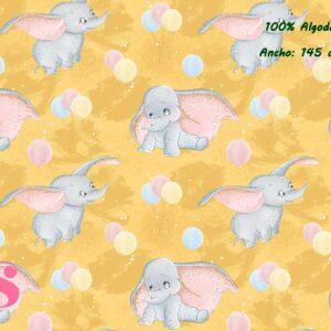 0025 Tejido Estampado Baby Dumbo