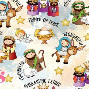 0034 Tejido Estampado Dulce Navidad