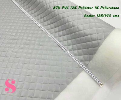 2-telas-acolchadas,acolchados-guateados,tejidos-guateados,tejidos-impermeables,telas-para-neceseres,telas-para-bolsos,Polipiel Acolchada Gris