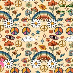 0033 Tejido Estampado Boho Hippie