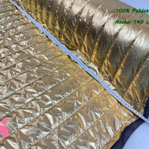 Acolchado Metalizado Dorado