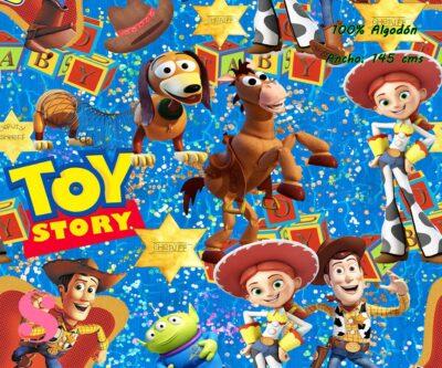 6-telas-infantiles,estampados-infantiles,telas-disney,telas-con-licencia,telas-estampadas-frikis,telas-por-metros,Tejido Estampado Toy Story Sheriff