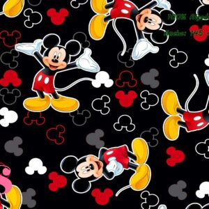 0022 Tejido Estampado Mickey fondo Negro
