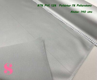 8-telas-de-invierno,tejidos-impermeables,-telas-de-moda,-polipiel-de-buena-calidad,Polipiel Plateado